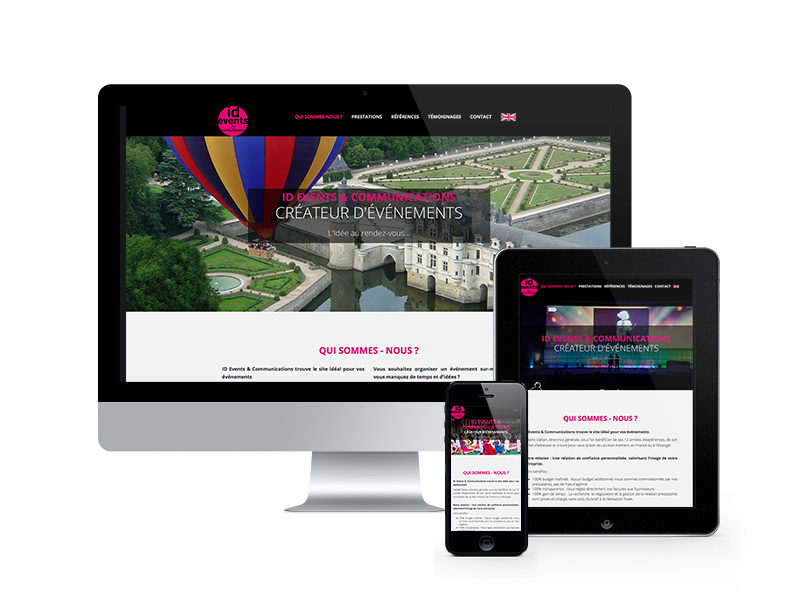 IDEVENTS & COMMUNICATIONS – site internet