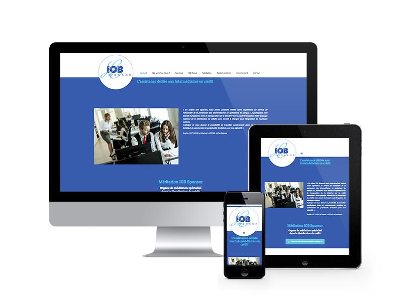 IOB Sponsor – site vitrine