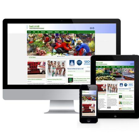FOOD 20 LAB – recherche – Site internet