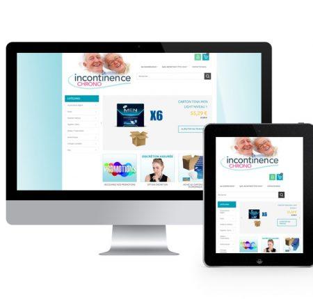 Incontinence chrono – E-commerce