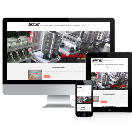 SPRA – industriel – site internet