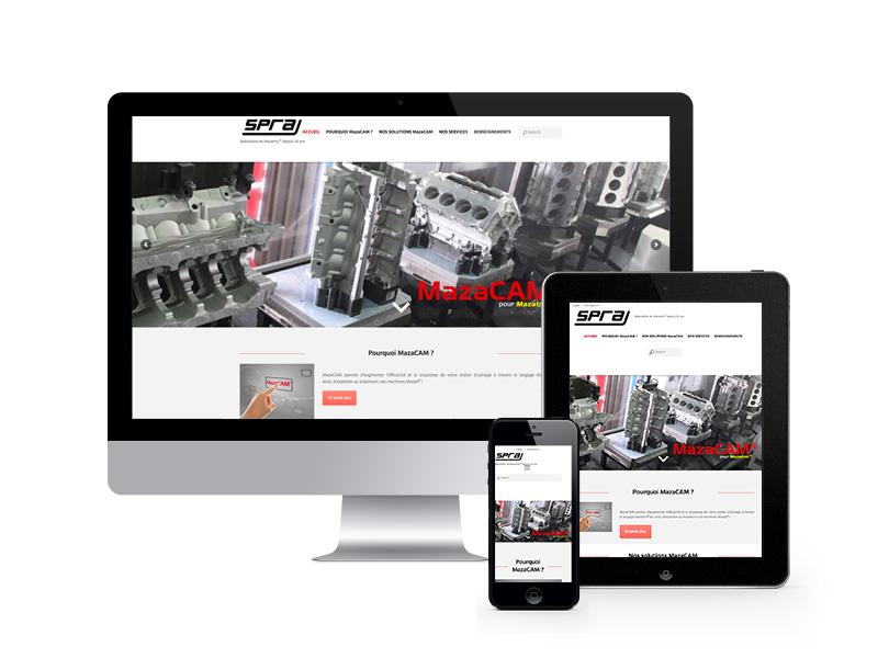 SPRA – industriel – site internet